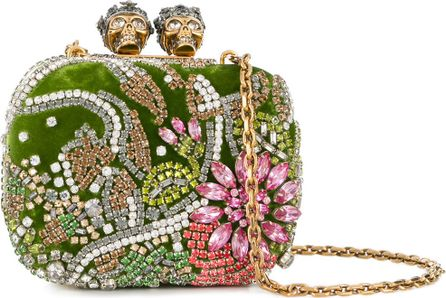 Alexander McQueen Queen and King embellished clutch bag