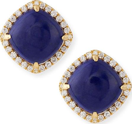 Frederic Sage 18K Gold Lapis & Diamond Stud Earrings