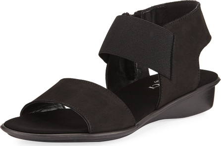 Sesto Meucci Elki Demi-Wedge Flat Sandals, Black