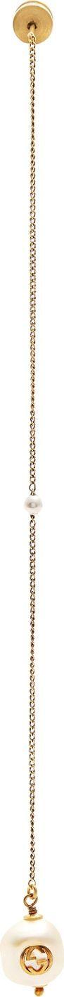 Gucci Faux-pearl drop single earring