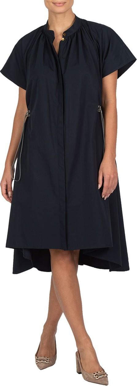 Eleventy Poplin Drawstring-Waist Dress