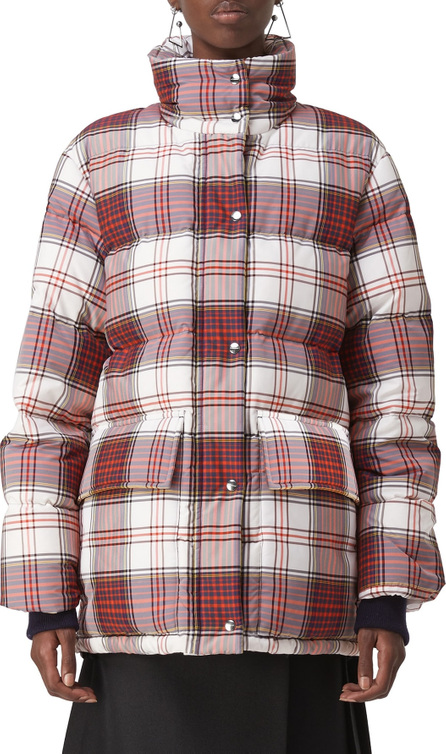 Burberry London England Selsey Check Print Down Coat