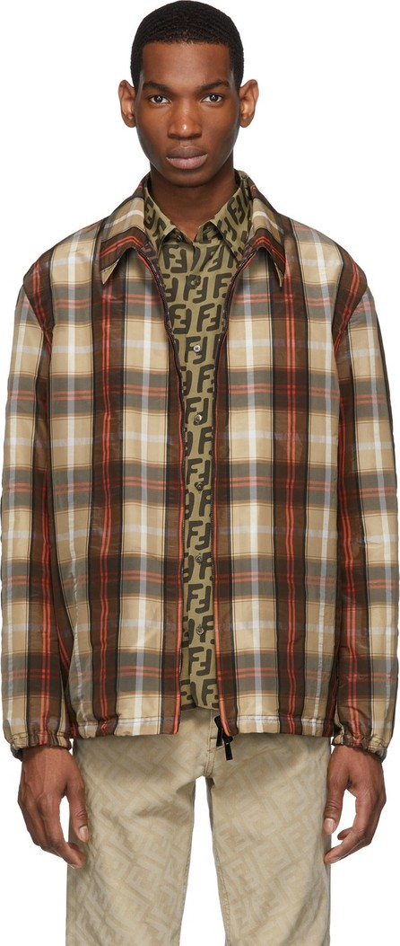 Fendi Reversible Brown Plaid 'Forever Fendi' Jacket