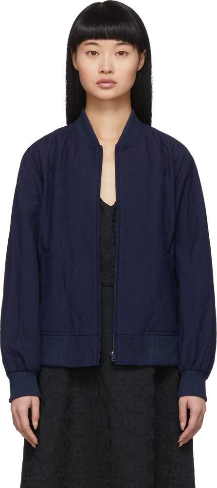 Blue Blue Japan Indigo Quilted Bomber Jacket