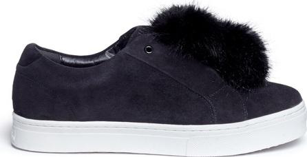Sam Edelman 'Leya' faux fur pompom suede slip-on sneakers