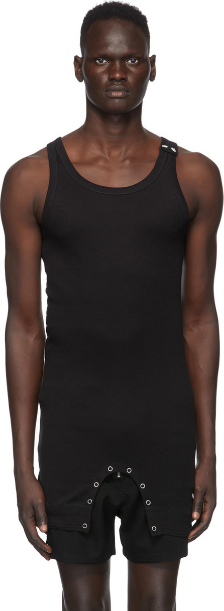 Takahiromiyashita The Soloist Black Short Tank Top