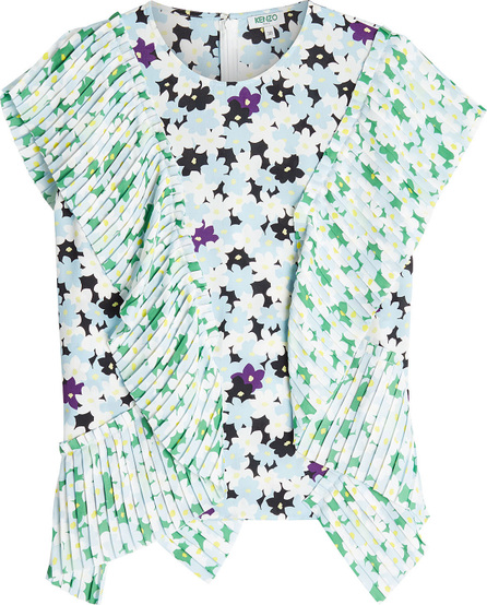 KENZO Printed Top with Pleats