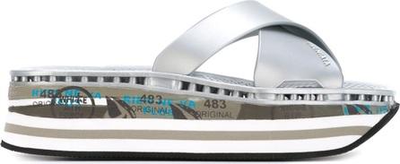 Premiata 'Mourag' print strappy platform sandals