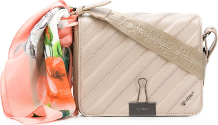 Off White Quilted scarf shoulder bag