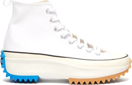 Converse x JW Anderson Runstar raised-sole high-top canvas trainers