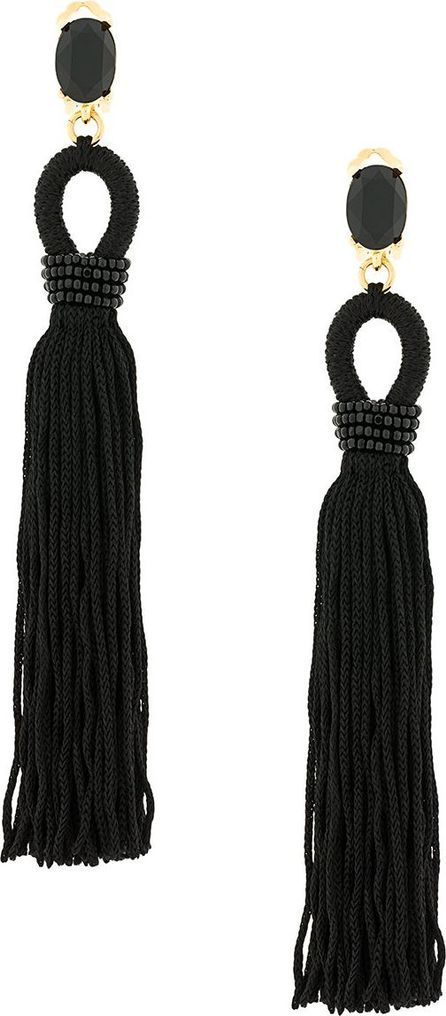Oscar De La Renta long tassel earrings