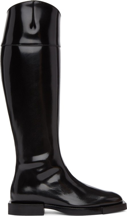 Alexander McQueen Black Leather Tall Boots