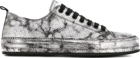 Ann Demeulemeester Low-top cracked sneakers