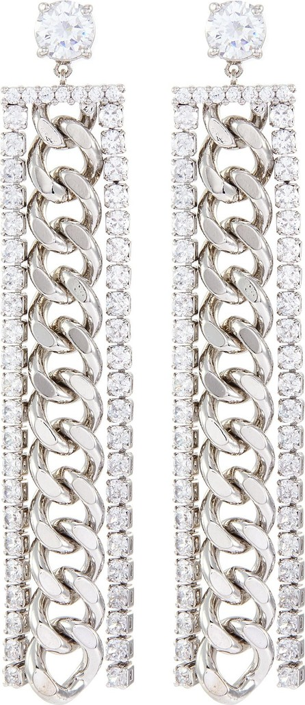 CZ by Kenneth Jay Lane Cubic zirconia long chain earrings