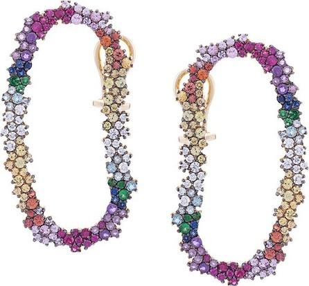 Ana Khouri diamond and sapphire embellished earrings