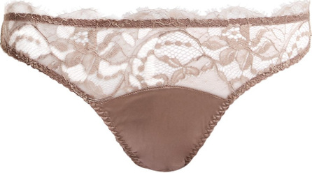 Fleur of England Lace and satin thong