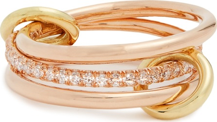Spinelli Kilcollin Sonny diamond, yellow & rose-gold ring