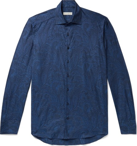 Etro Slim-Fit Paisley-Print Cotton-Poplin Shirt