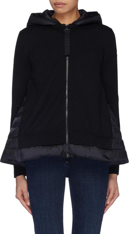 Moncler Down puffer hood virgin wool zip cardigan
