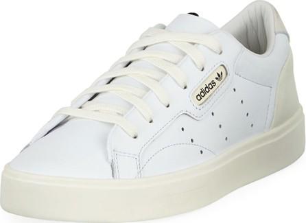 Adidas Sleek Leather Low-Top Sneakers