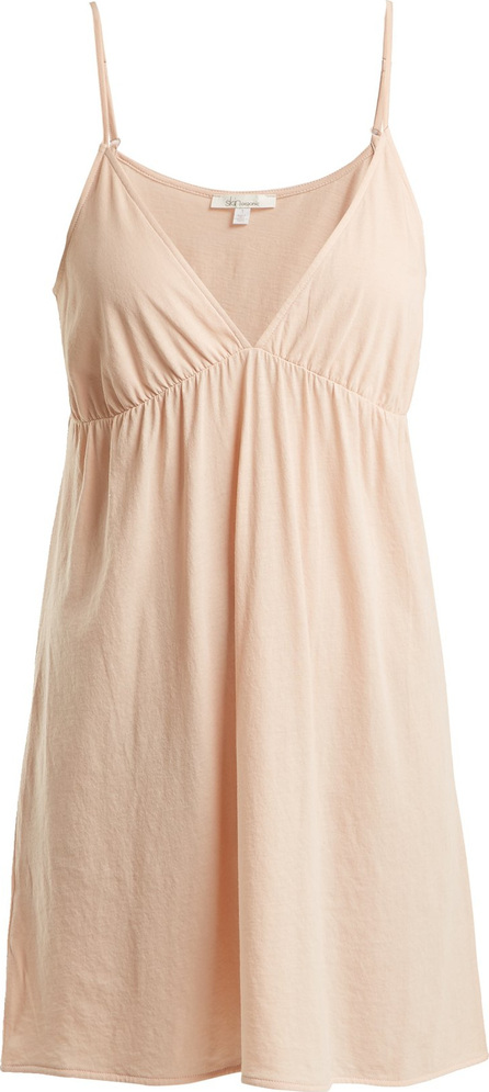 SKIN Keana V-neck organic pima-cotton slip dress