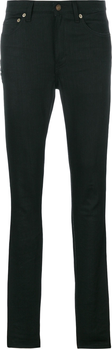 Saint Laurent D05 star embroidered skinny jeans