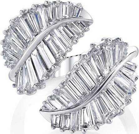 Anita Ko Palm Leaf 18k White Gold & Diamond Ring