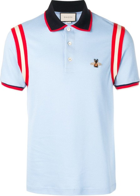 Gucci Bee appliqué polo shirt