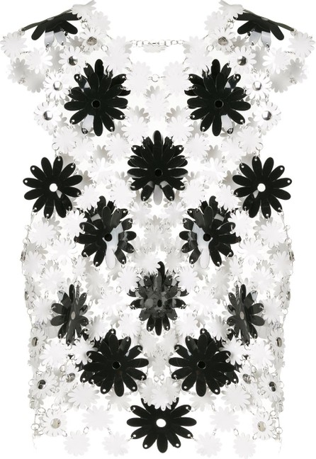 Paco Rabanne Sleeveless laser cut floral top