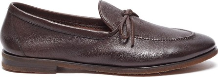 Henderson Baracco Latex tie leather loafers
