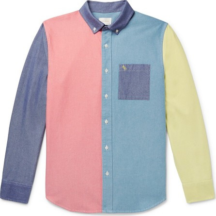 Aimé Leon Dore Button-Down Collar Colour-Block Cotton Oxford Shirt
