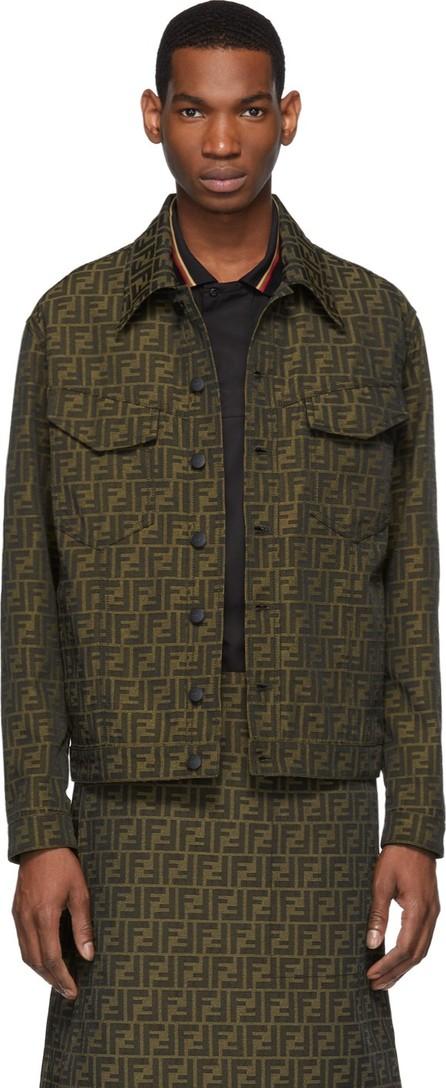 Fendi Brown All Over 'Forever Fendi' Jacket