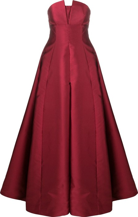 Alberta Ferretti Empire line strapless gown