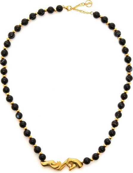 Anissa Kermiche Les Mains gold-plated and onyx necklace