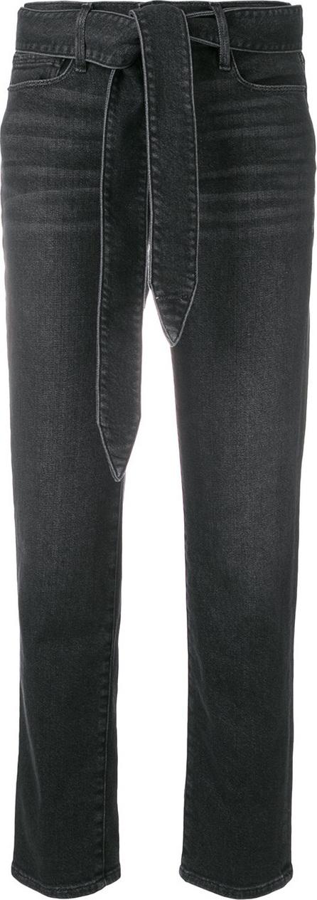 FRAME DENIM Le Nouveau belted straight leg jeans