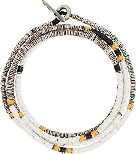 M. Cohen Multicoloured Disc beaded bracelet
