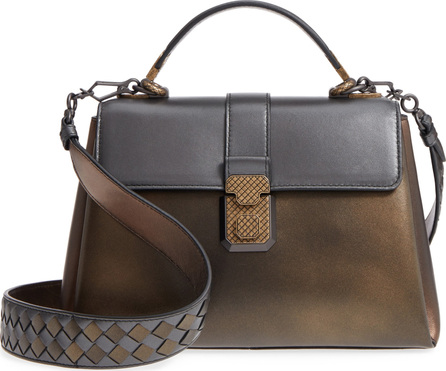 Bottega Veneta Small Piazza Tricolor Metallic Leather Handbag