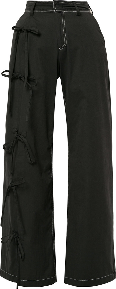 Blindness Side bow detail trousers