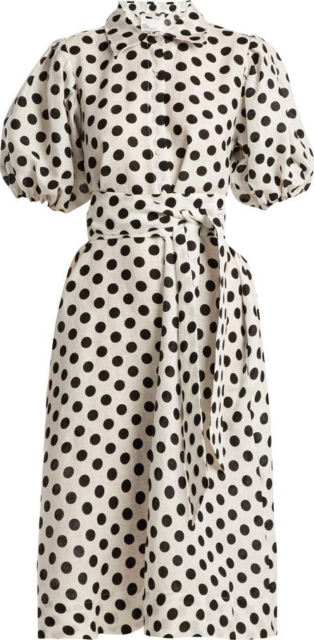 Lisa Marie Fernandez Polka-dot linen shirtdress