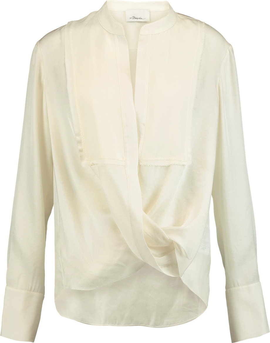 3.1 Phillip Lim - Wrap-effect twill blouse