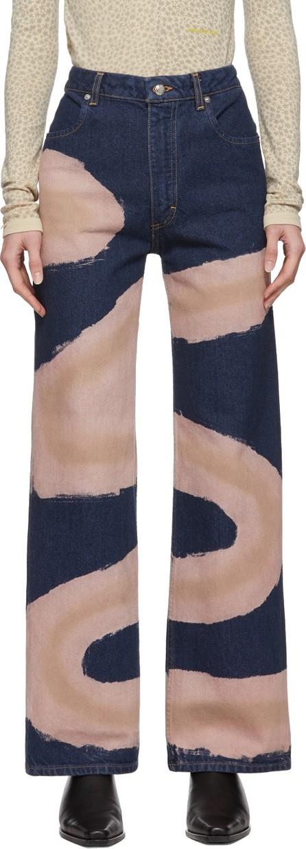 Eckhaus Latta Blue Wide-Leg Chemtrail Jeans