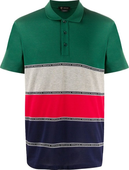 Versace Logo colour-block poloshirt