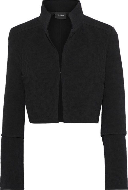 Akris Octopus cropped stretch-wool cloqué jacket
