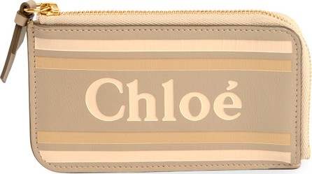 Chloe Zip Card Case with Logo and Striping