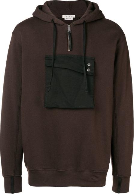 Alyx Contrast-patch hooded sweatshirt