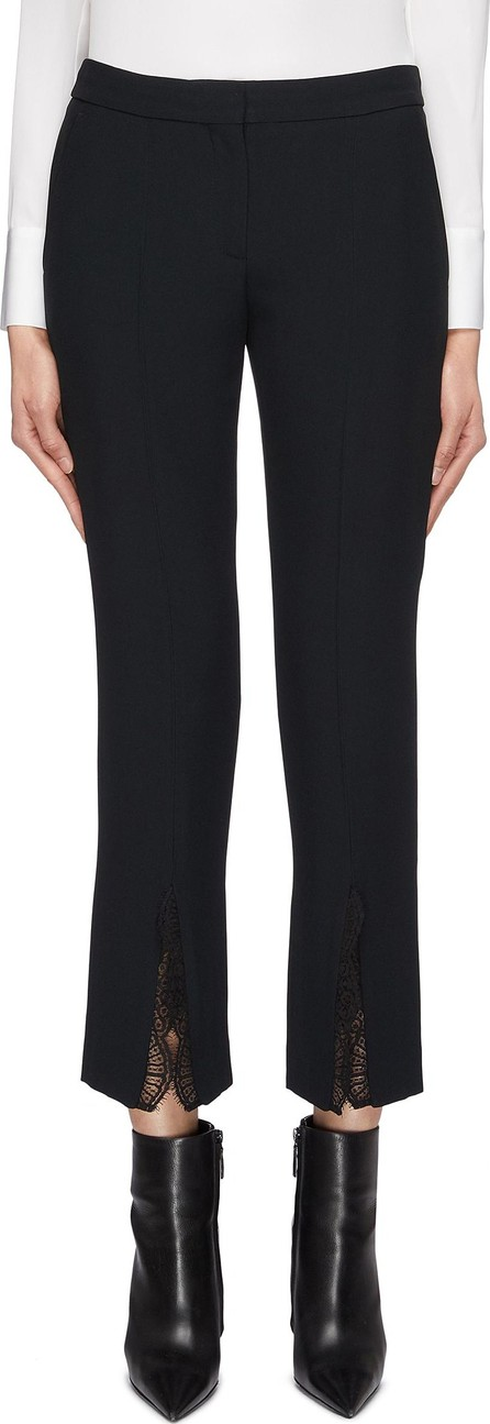 Alexander McQueen Chantilly lace trim split cuff crepe pants