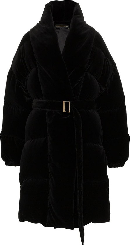 Alexandre Vauthier Velvet feather down cotton puffer coat