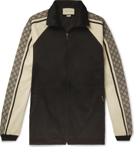 Gucci Logo Striped Tech-Jersey Track Jacket