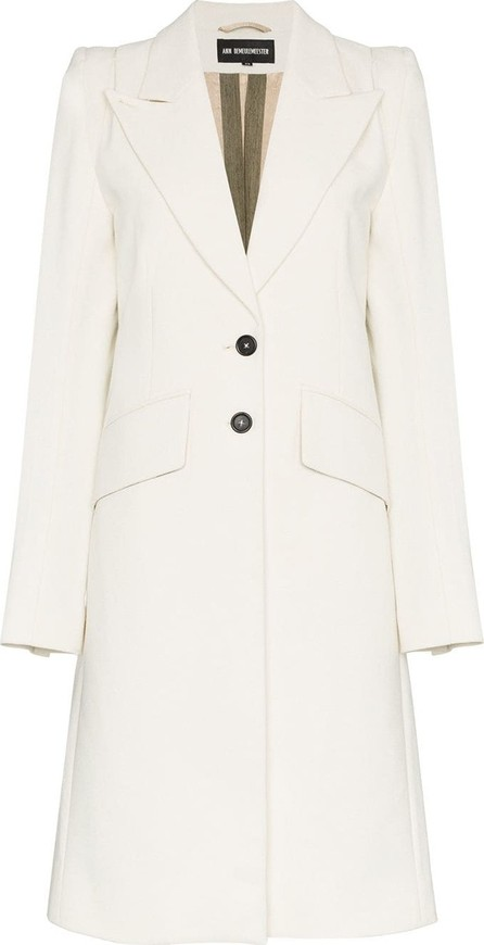 Ann Demeulemeester Single-breasted cashmere-wool blend coat