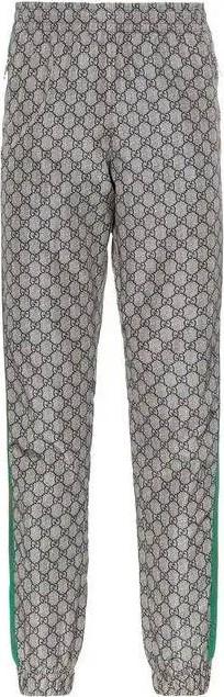Gucci GG Supreme print web sweat pants